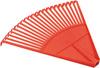 Грабли веерные FIT, цвет: красный, 22 зуба - изображение