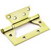 Петля дверная Palladium 2ВВ - 100, универсальная, 2 подшипника, цвет: золотой, длина 10 см - изображение