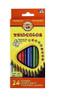 Набор трехгранных цветных карандашей