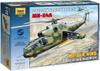 Звезда Сборная модель Советский ударный вертолет Ми-24А - изображение