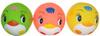 Курносики Игрушка для ванной Мячики-пингвины цвет желтый розовый салатовый 3 шт - изображение