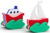 Игрушка конструктор для ванной El'BascoToys Кораблик и Парусник 03-001 - изображение