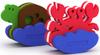 Игрушка конструктор для ванной El'BascoToys Краб и Черепаха 03-005 - изображение