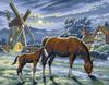 KSG Картина по номерам Мельница - изображение
