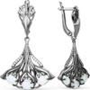 Серьги Intalia из серебра с опалом - изображение