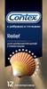 Contex Relief Презервативы с ребрами и точками для дополнительной стимуляции, 12 шт - изображение