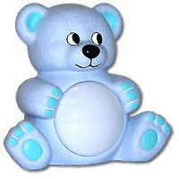 Maman Музыкальный светильник Мишутка цвет голубой #1