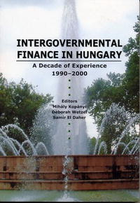 Intergovernmental Finances In Hungary: A Decade Of Experience 1990-2000 #1