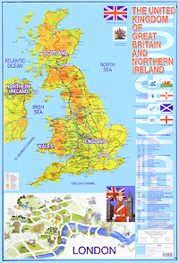 The United Kingdom of Great Britain and Northern Ireland. Карта #1