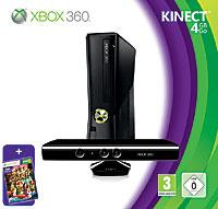 """Игровая приставка Microsoft Xbox 360 (4Gb) + сенсор Kinect + игра """"Kinect Adventures""""  #1"""
