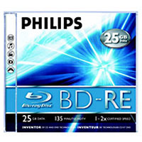 Philips BD-R 25GB, 4x, 10шт, Cake Box, Printable #1