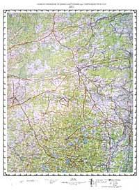 Окрестности Дно (топографическая карта) #1