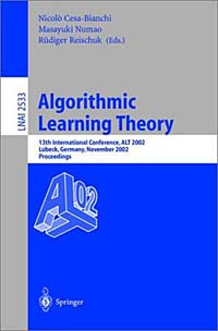 Algorithmic Learning Theory #1