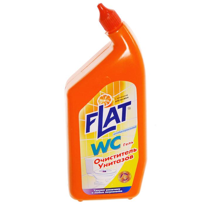 """Очиститель для унитазов """"Flat"""", с """"носиком"""" для труднодоступных мест, с ароматом апельсина, 550 г  #1"""