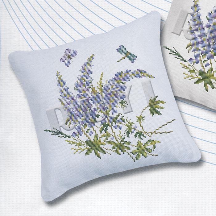 """Набор для вышивания подушки """"Полевые цветы"""", 49 см х 45 см #1"""