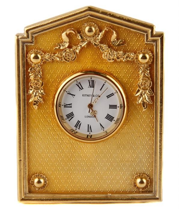 78e52041 Часы настольные в стиле Фаберже. Металл, эмаль