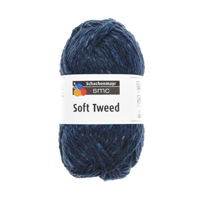 """Пряжа для вязания Schachenmayr SMC """"Soft Tweed"""", цвет: индиго (00050), 115 м, 50 г. 9807526-00050  #1"""
