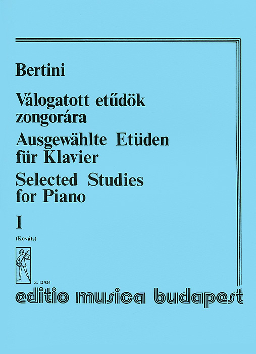 Bertini: Valogatott etudok zongorara I #1