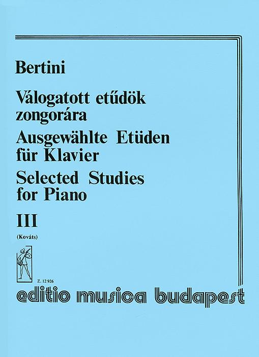 Bertini: Valogatott etudok zongorara III #1