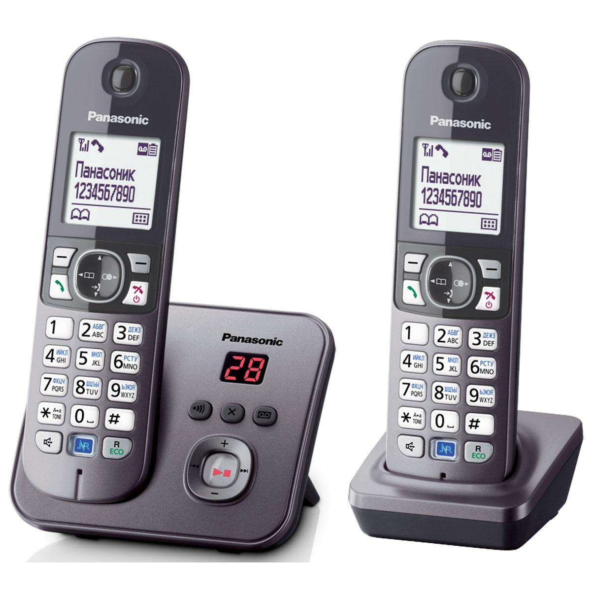 Радиотелефон Panasonic KX-TG6822RUM, серый #1