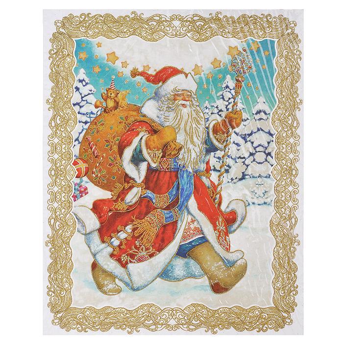 """Новогоднее оконное украшение """"Дед Мороз"""". 31251 #1"""