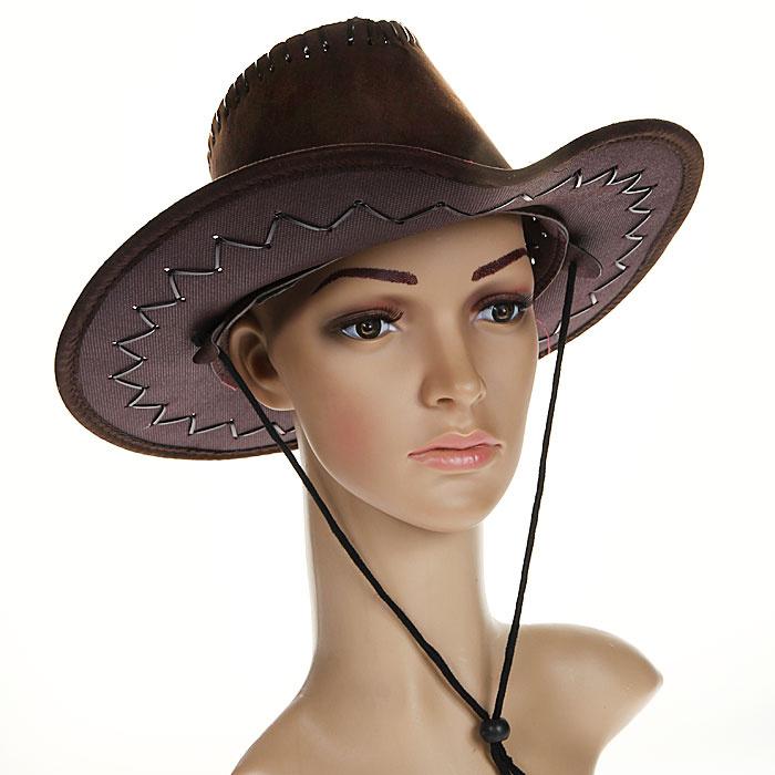 """Маскарадная шляпа """"Ковбой"""", цвет: коричневый. 31335 #1"""