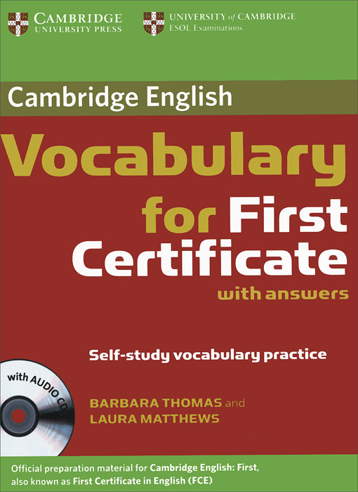 Cambridge Vocabulary for First Certificate (+ CD) | Matthews Laura, Thomas Barbara #1