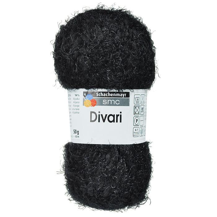 """Пряжа для вязания """"Divari"""", цвет: черный (00099), 60 м, 50 г #1"""