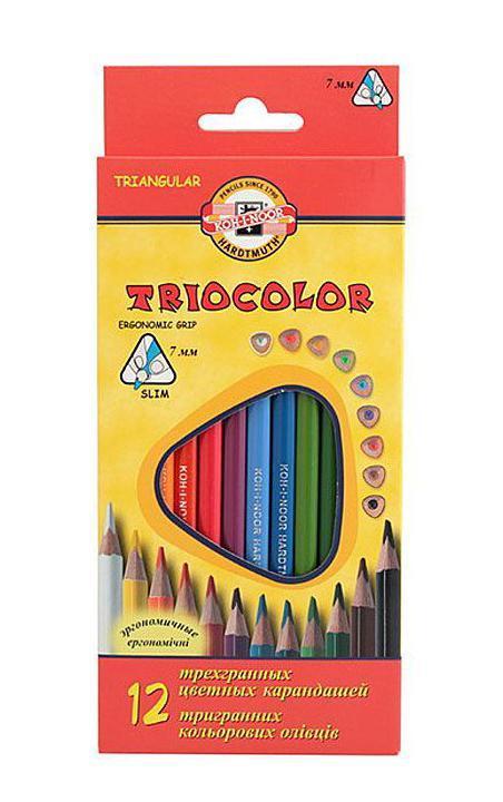 """Цветные карандаши """"Triocolor"""", 12 цветов #1"""