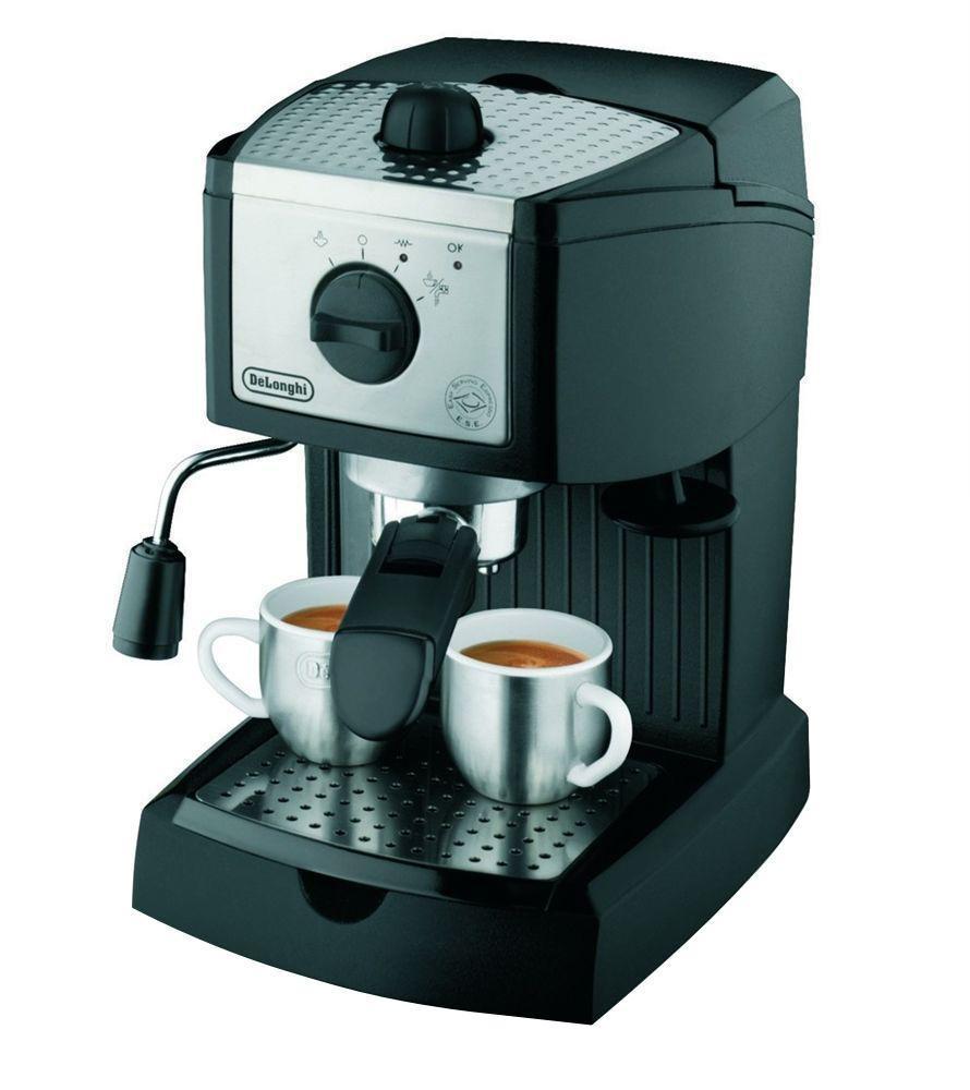 Кофеварка рожковая DeLonghi DeLonghi EC 155, серебристый #1