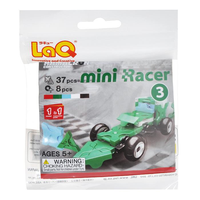 """Конструктор LaQ """"Mini Racer Green"""", 37 элементов #1"""