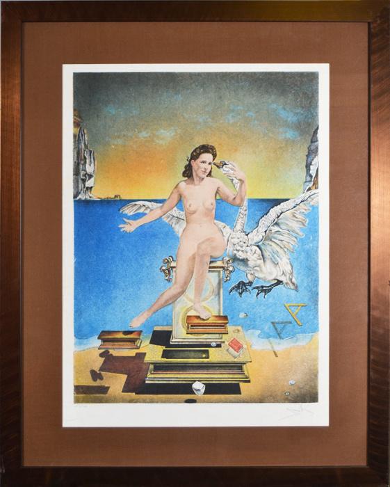 Атомная Леда (Leda atomica). Сальвадор Дали. Цветная авторская литография. Западная Европа, вторая половина #1