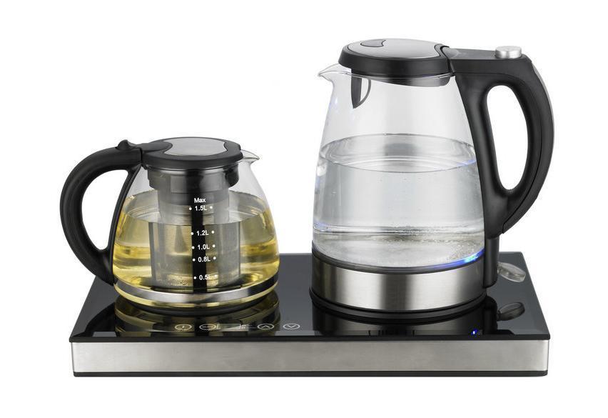Электрический чайник Unit Unit UEK-245, прозрачный-черный-серебристый  #1