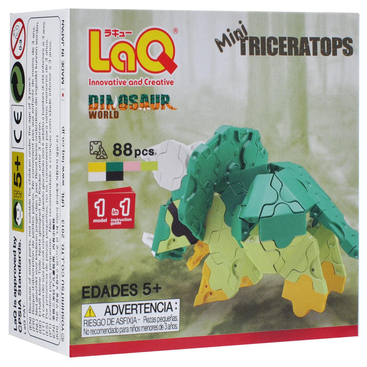 "Конструктор LaQ ""Mini Triceratops"", 88 элементов #1"