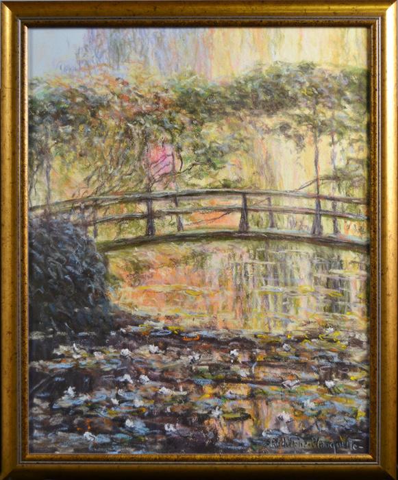 """Картина """"Большой японский мост"""" (""""Le grand pont japonais, soleil""""), пейзаж. Художник Родольф Планкетт. #1"""