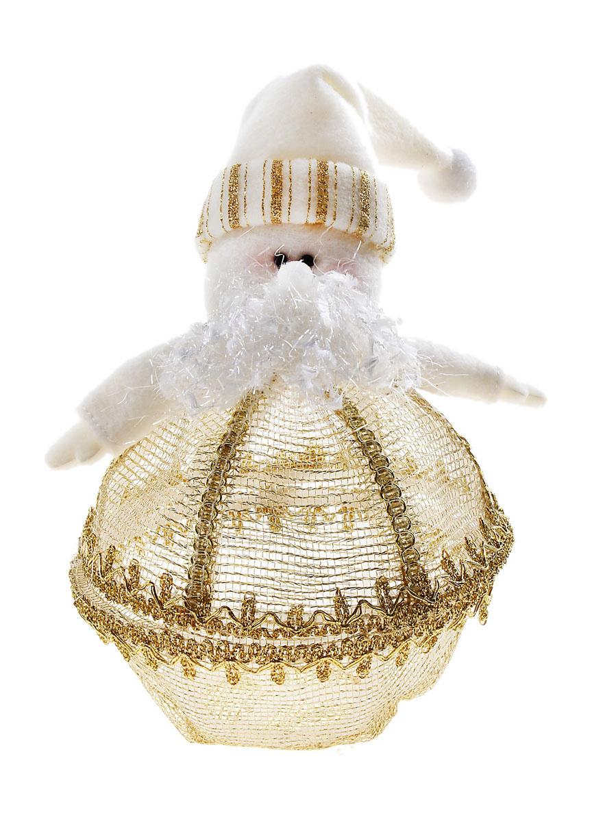 """Декоративная новогодняя шкатулка Sima-land """"Дед Мороз"""", цвет: белый, золотистый. 540622  #1"""