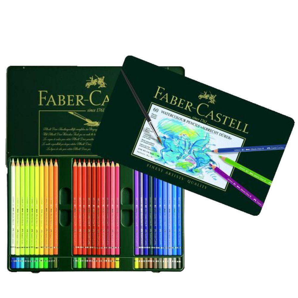 Акварельные карандаши ALBRECHT DURER®, набор цветов, в металлической коробке, 60 шт.  #1