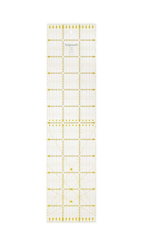 """Линейка универсальная Prym """"Угол"""" для пэчворка, с сантиметровой шкалой, 15 см х 60 см  #1"""