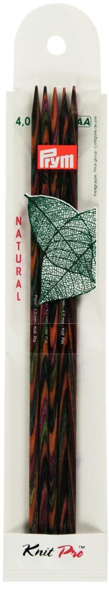 """Спицы чулочные Prym """"Natural"""", деревянные, прямые, диаметр 4 мм, длина 20 см, 5 шт  #1"""
