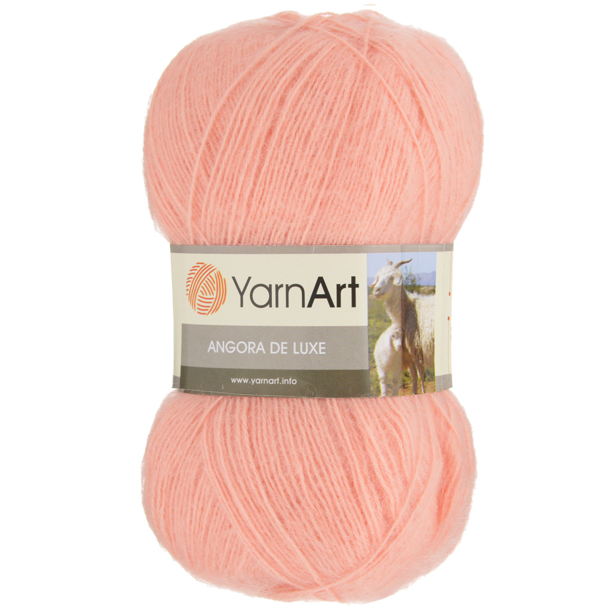 пряжа для вязания Yarnart Angora De Luxe цвет персиковый 565