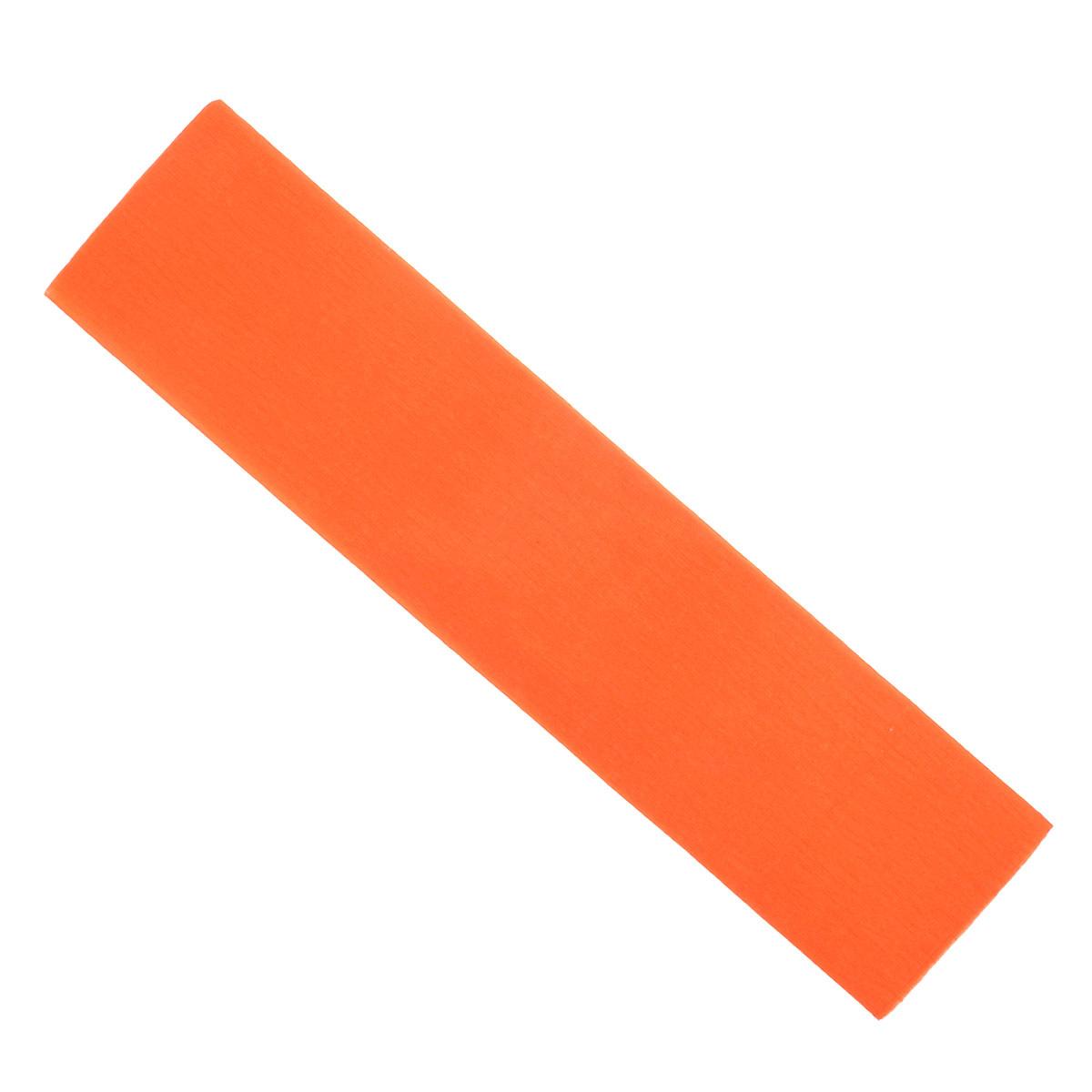 "Крепированная бумага ""Hatber"", флюоресцентная, цвет: оранжевый, 5 см х 25 см  #1"