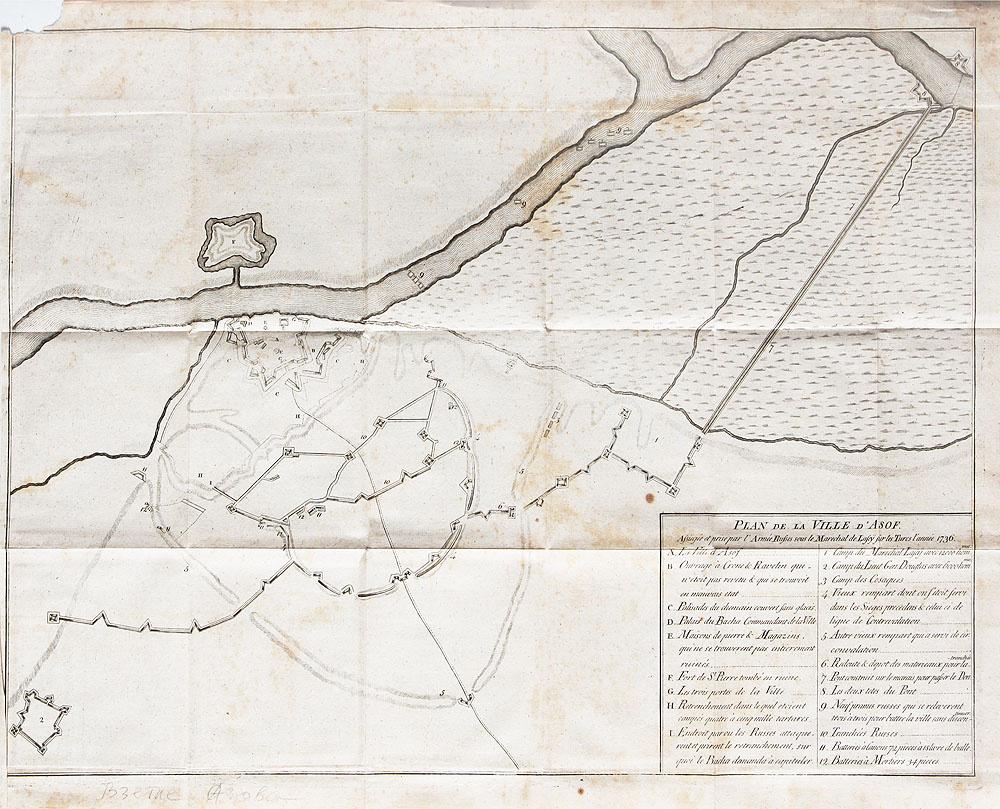 План города Азов (Plan de la ville d'Asof. Assiege et prise par l'armee Russes sous le M\marechal de #1