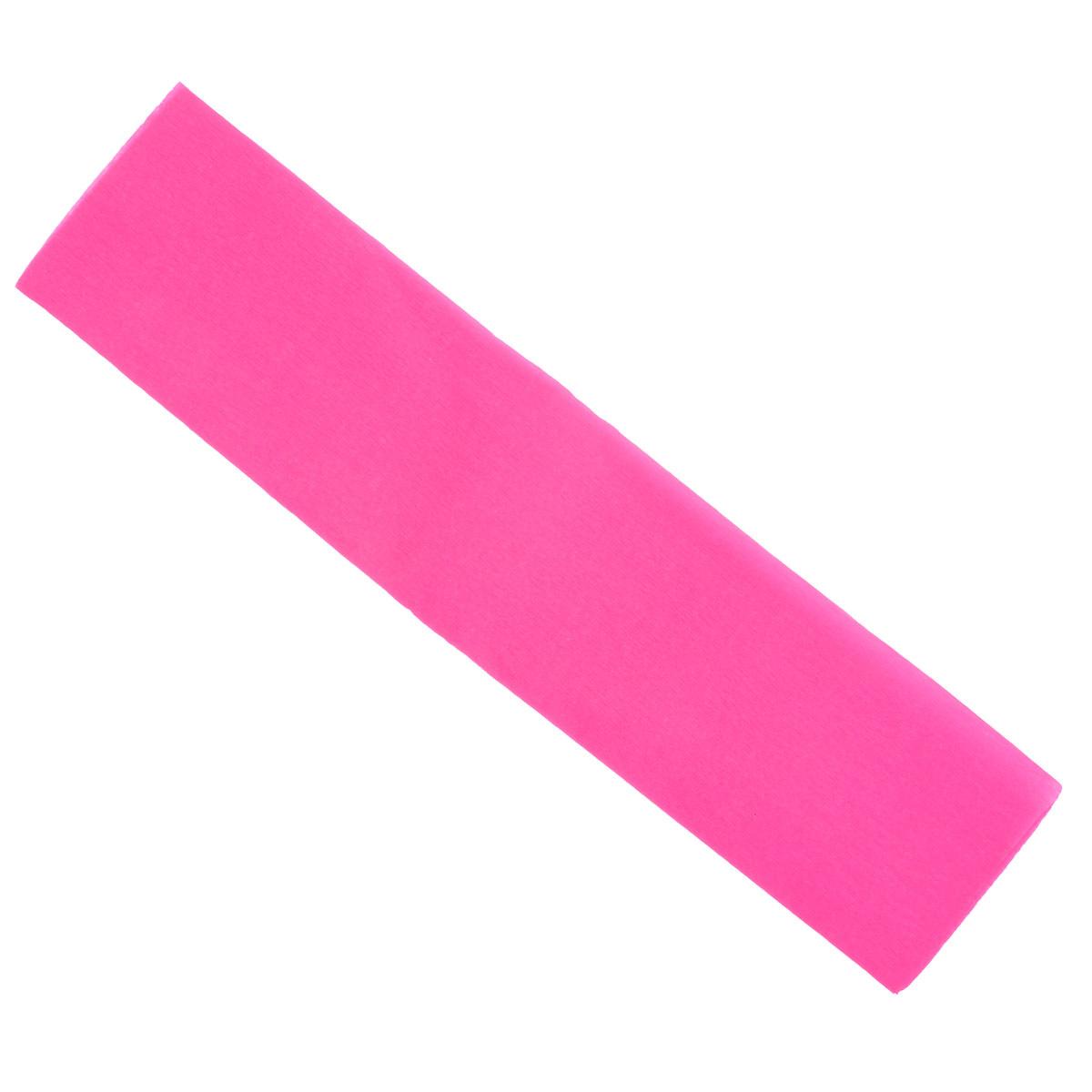 "Крепированная бумага ""Hatber"", флюоресцентная, цвет: розовый, 5 см х 25 см  #1"