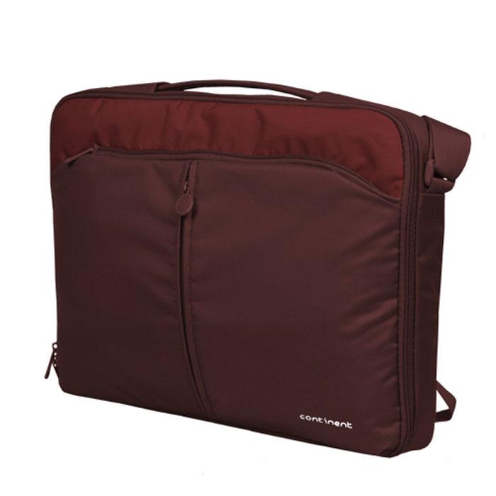 "Continent CC-02, Cranberry сумка для ноутбука 15,6"" #1"