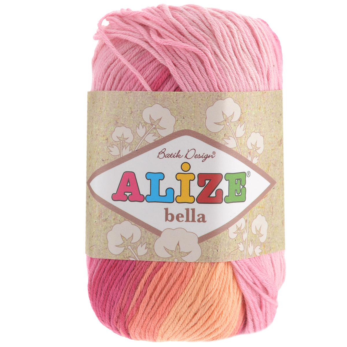 """Пряжа для вязания Alize """"Bella Batik"""", цвет: розовый"""