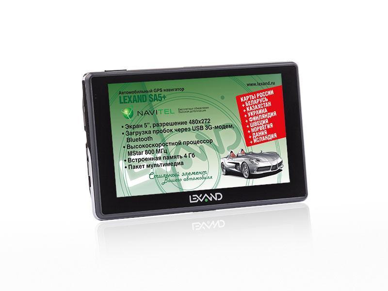 Lexand SA5+, Black GPS навигатор #1