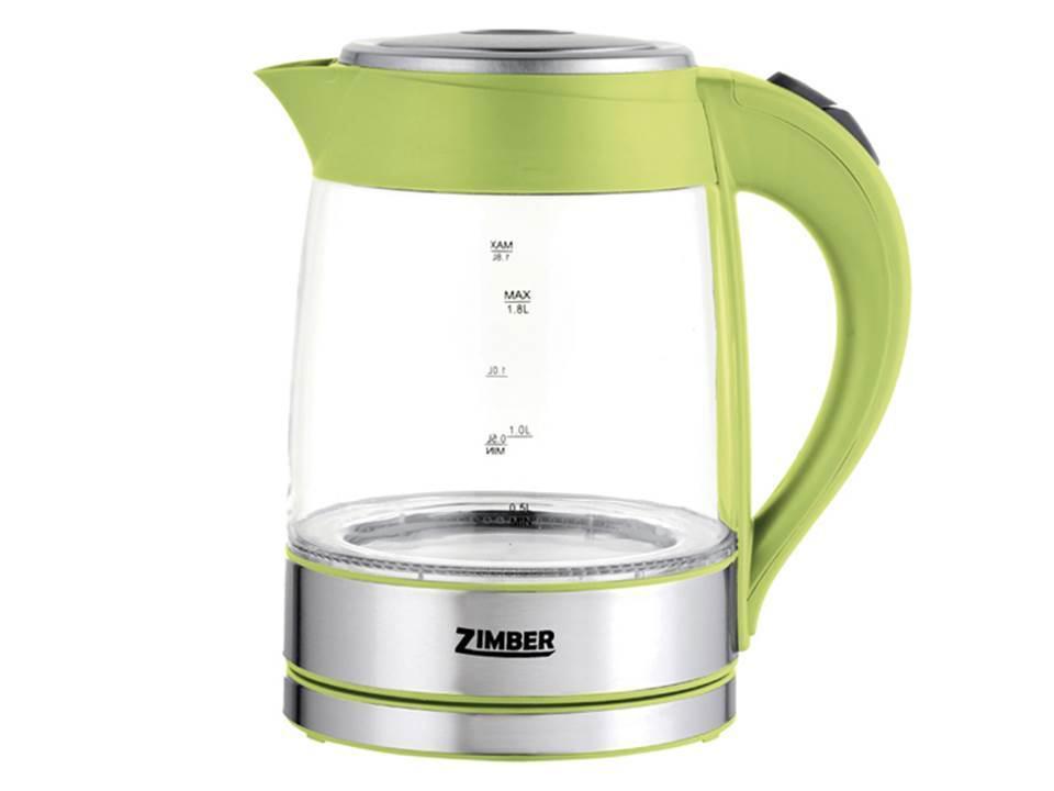 Электрический чайник Zimber Zimber ZM-10818 Gray Metallic Green 4690203130688, Зеленый-Серебристый  #1
