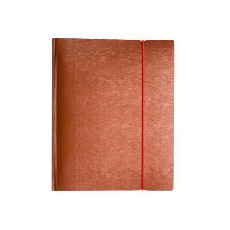 Тетрадь 120л А5ф на 4 х кольцах Пластиковая обложка на резинке WOOD Красная  #1