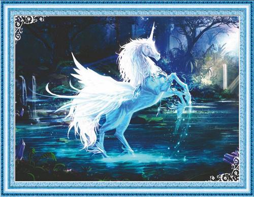 """Набор для изготовления картины со стразами Cristal """"Единорог"""", 80 х 63 см  #1"""