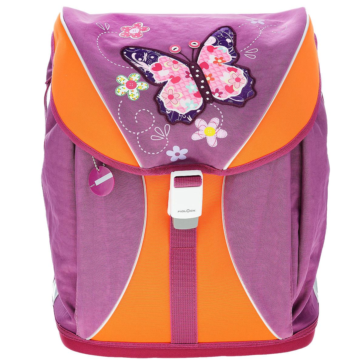 """Ранец школьный Tiger Family """"Voguish Collection"""", цвет: фиолетовый, оранжевый  #1"""